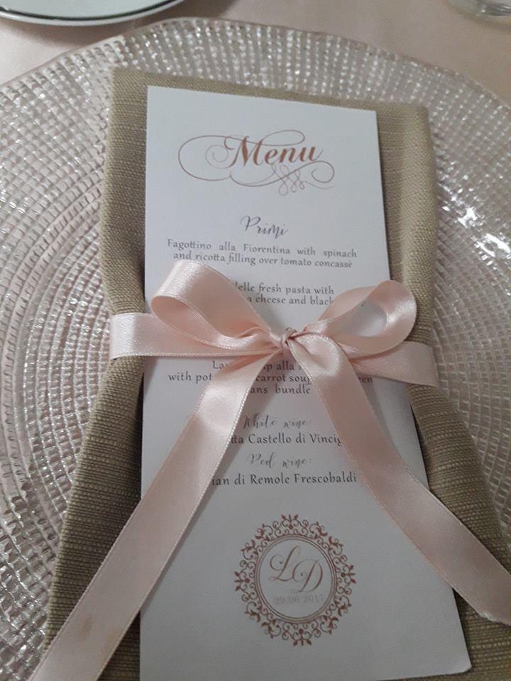 Segnaposto Matrimonio Country Chic : Nuove proposte di menù e segnaposto country chic dero bomboniere